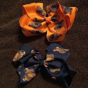 AUBURN hair bows for girls! 2-Pack.